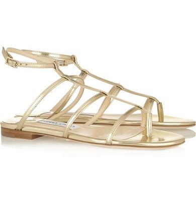 Des sandales en cuir métallisé doré Doodle – Jimmy Choo