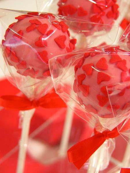 Des cakepops imaginés par Maurice pour la St Valentin.