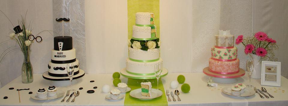 Les wedding cake des Gâteaux de Nino lors d'un salon du mariage