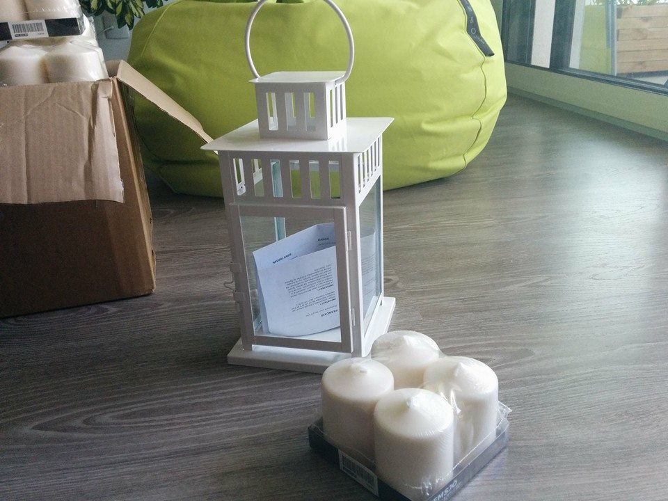 lanternes et bougies les achats d co mariage du jour mlle escarpins. Black Bedroom Furniture Sets. Home Design Ideas